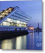 Hamburg Dockland At Night Metal Print