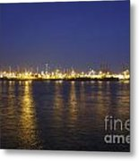 Hamburg Harbor Skyline Metal Print