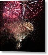 10715 Hamburg Winter Dom Fireworks Metal Print