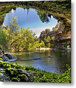 Hamilton Pool Metal Print by Lisa  Spencer