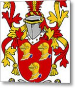 Hamley Coat Of Arms Irish Metal Print