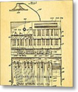 Hammond Organ Patent Art 1934 Metal Print