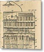 Hammond Organ Patent Metal Print