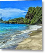 Hamoa Beach At Hana Maui Metal Print