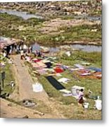 Hampi Bathing Ghats Metal Print