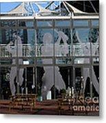 Hampshire County Cricket Glass Pavilion Metal Print
