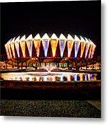 Hampton Coliseum Christmas Metal Print