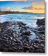Hana Bay Sunrise Metal Print by Inge Johnsson