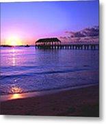 Hanalei Bay Pier Sunset Metal Print by Brian Harig