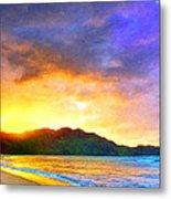 Hanalei Sunset Metal Print