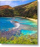Hanauma Bay In Hawaii Metal Print