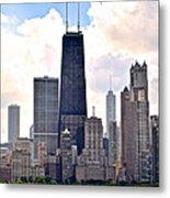 Hancock Building In Chicago Metal Print