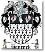 Hancock Coat Of Arms Portleck Westmeath Metal Print