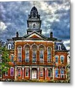 Before It Burned Hancock County Courthouse Art Metal Print