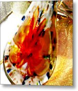 Hand Blown Glass Pendant Metal Print by Judy Paleologos