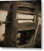 Hand Clothes Wringer Metal Print