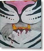 Hand In Mouth Metal Print by Kendya Battle