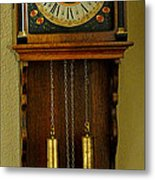 Hand Painted Clockwith Chimes Metal Print