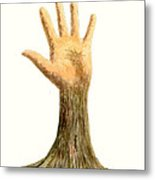 Hand Tree Metal Print