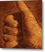 Hand With Thumbs Up Sign Metal Print