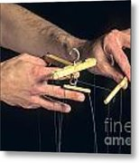 Hands Of A Puppeteer Metal Print by Bernard Jaubert