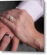 Hands With Wedding Rings Metal Print