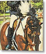 Hang On Tight To Your Painted Horse Metal Print