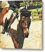 Hang On To Your Painted Horse Metal Print