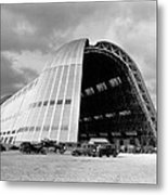 Hangar One At Moffett Field Metal Print by Underwood Archives
