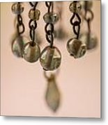 Hanging Beaded Votive Abstract 5 Metal Print