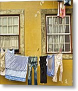 Hanging Clothes Of Old Europe II Metal Print