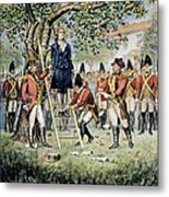 Hanging Of Nathan Hale Metal Print