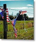 Hanging On - The American Spirit By William Patrick And Sharon Cummings Metal Print