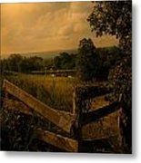 Hanging Out At The Corner Metal Print