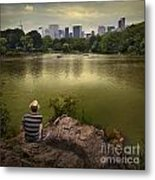 Hanging Out In Central Park Metal Print