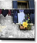 Hanging Out To Dry In Venice 2 Metal Print