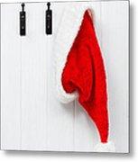 Hanging Santa Hat Metal Print by Amanda Elwell