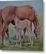 Hanging With Mom Metal Print by Bobbi Price