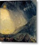 Hannibal And His Army Crossing The Alps Metal Print