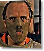 Hannibal Lecter Metal Print