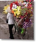 Hanoi Flowers 01 Metal Print