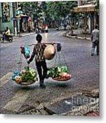 Hanoi Street Life II Metal Print