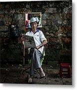 Hanois Street Style Barbers Metal Print