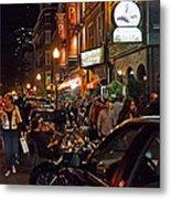 Hanover Street Nights - Boston Metal Print