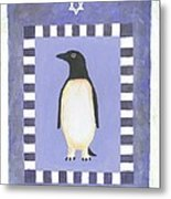 Hanukka Penguin Three Metal Print