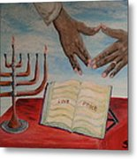 Hanukkah First Night Metal Print