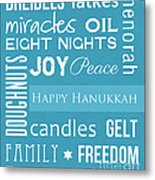Hanukkah Fun Metal Print