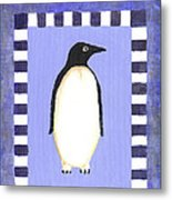 Hanukkah Penguin One Metal Print