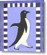 Hanukkah Penguin Two Metal Print
