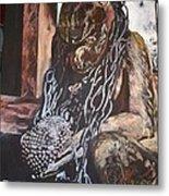 Hanuman In Chains Metal Print